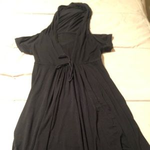 Other - Black hooded bathing suit cover up